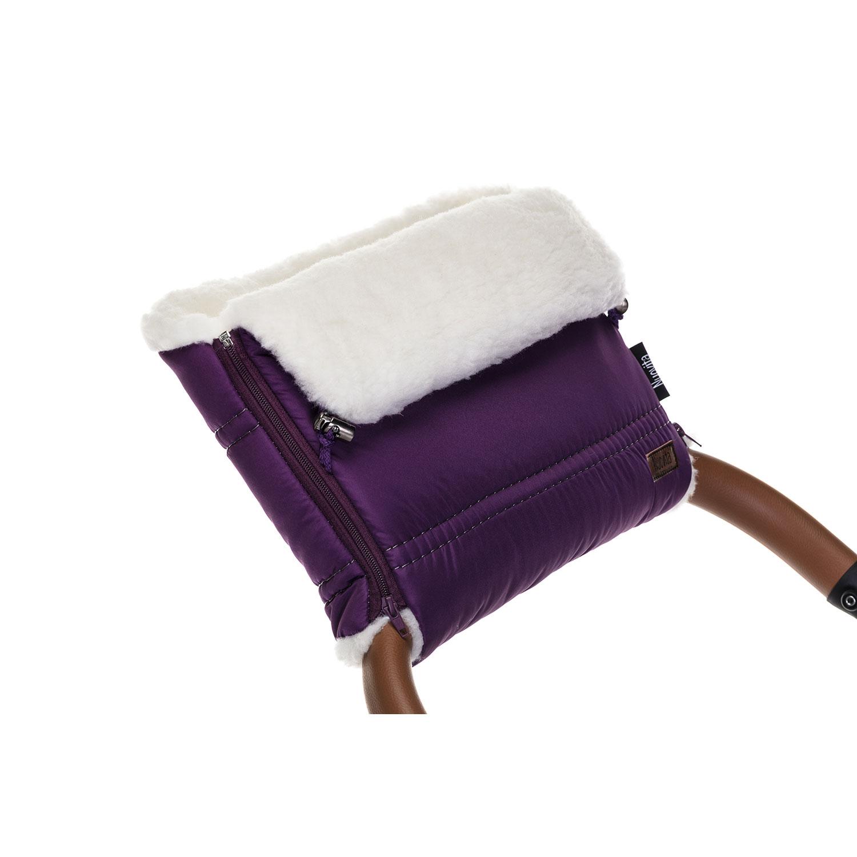 Купить Муфта меховая для коляски Nuovita Alpino Bianco фиолетовая,
