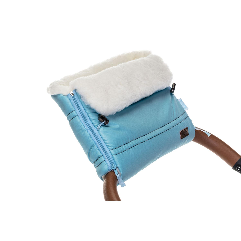 Купить Муфта меховая для коляски Nuovita Alpino Bianco голубая,