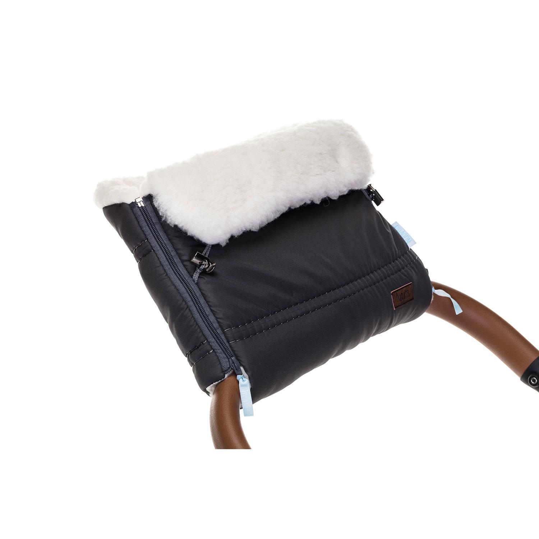 Купить Муфта меховая для коляски Nuovita Alpino Bianco пепельная,