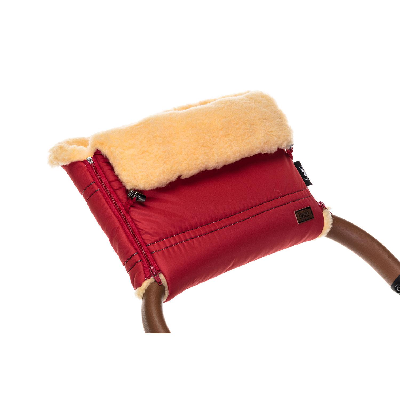Купить Муфта меховая для коляски Nuovita Alpino Pesco красная,
