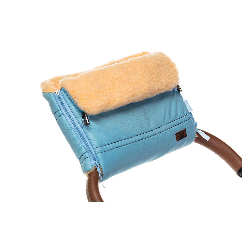 Купить Муфта меховая для коляски Nuovita Alpino Pesco голубая,
