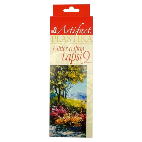 Купить Набор для творчества ARTIFACT 7109-49 LAPSI SHIFFON GLITTER 9 цветов шифон с блестками,
