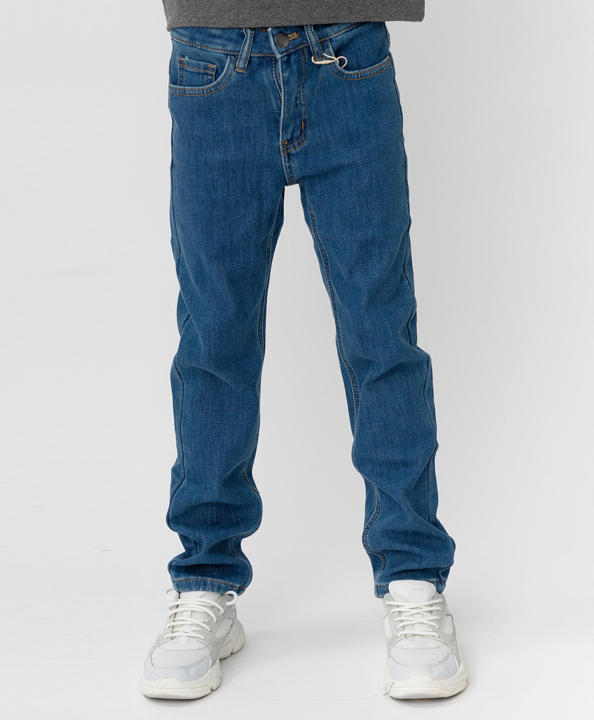 Купить Синие джинсы, бондированные флисом Button Blue 220BBBJC6401D100, размер 134,