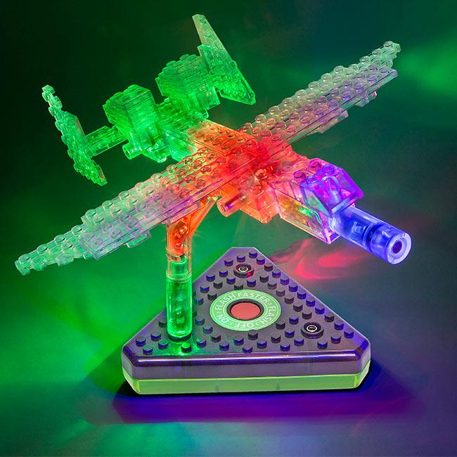 """Конструктор """"Laser Pegs""""Грузовой самолет 12 в 1"""