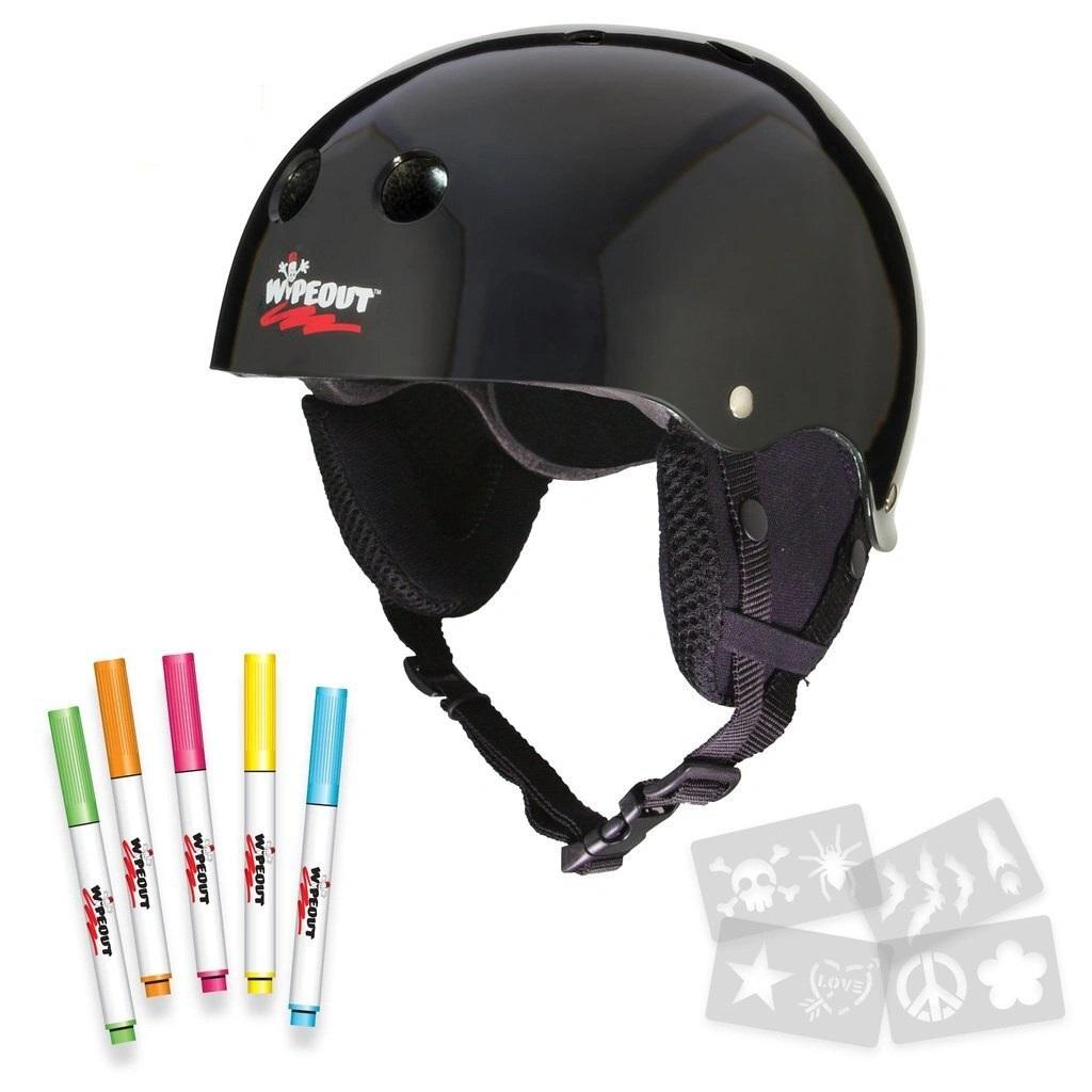 Купить Зимний шлем с фломастерами Wipeout Black 5+,