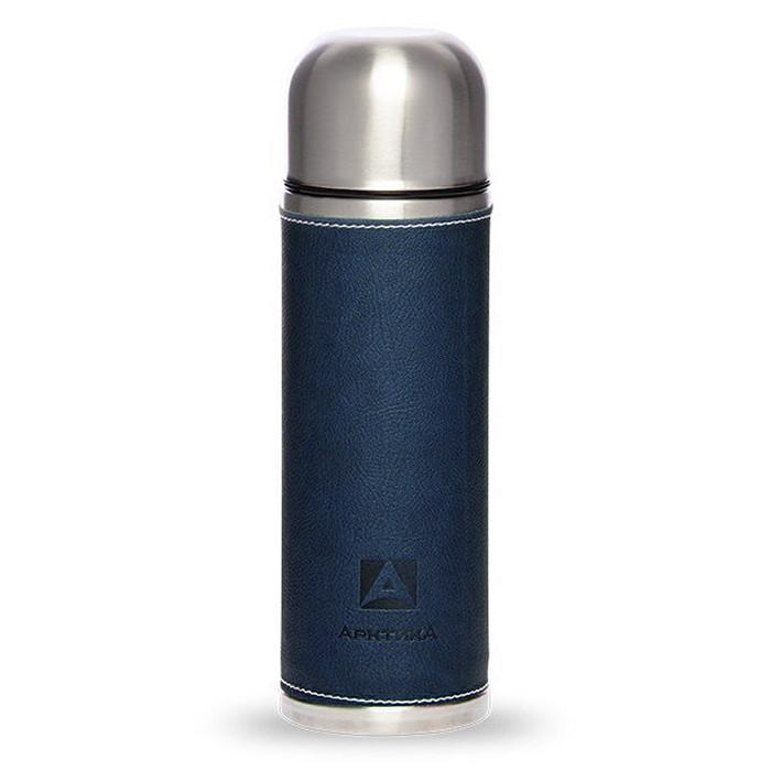 Фото - Термос бытовой, вакуумный, питьевой, в кожаной оплетке, Артика 700 мл,, синий