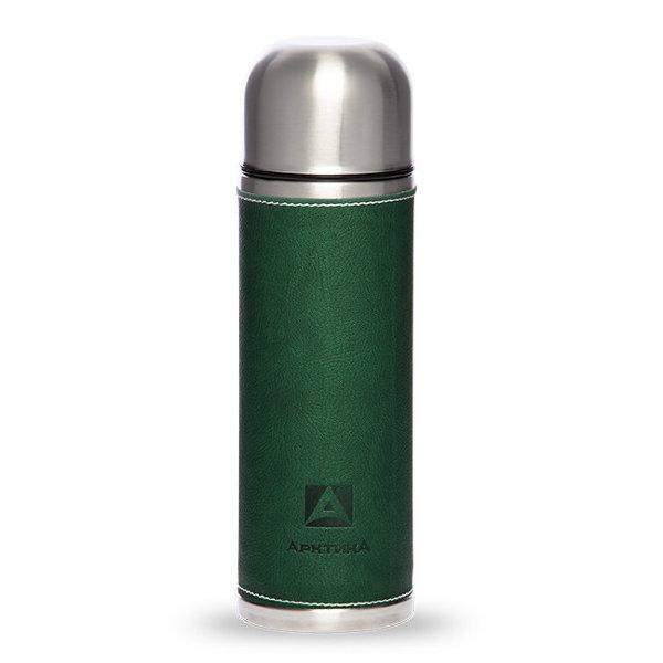 Фото - Термос бытовой, вакуумный, питьевой, в кожаной оплетке, Артика 700 мл,, зеленый