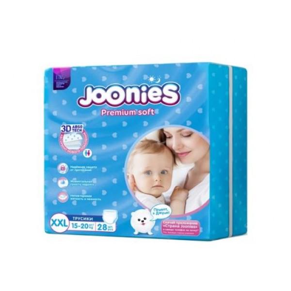 Подгузники-трусики Joonies Premium Soft XXL (15-20 кг), 28 шт. Joonies трусики Premium Soft XXL (15-20 кг) 28 шт.