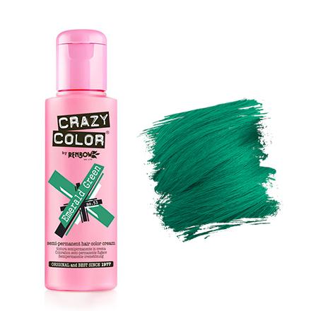 Краска для волос Crazy Color 53 Emerald Green Изумрудно-зеленый 100 мл