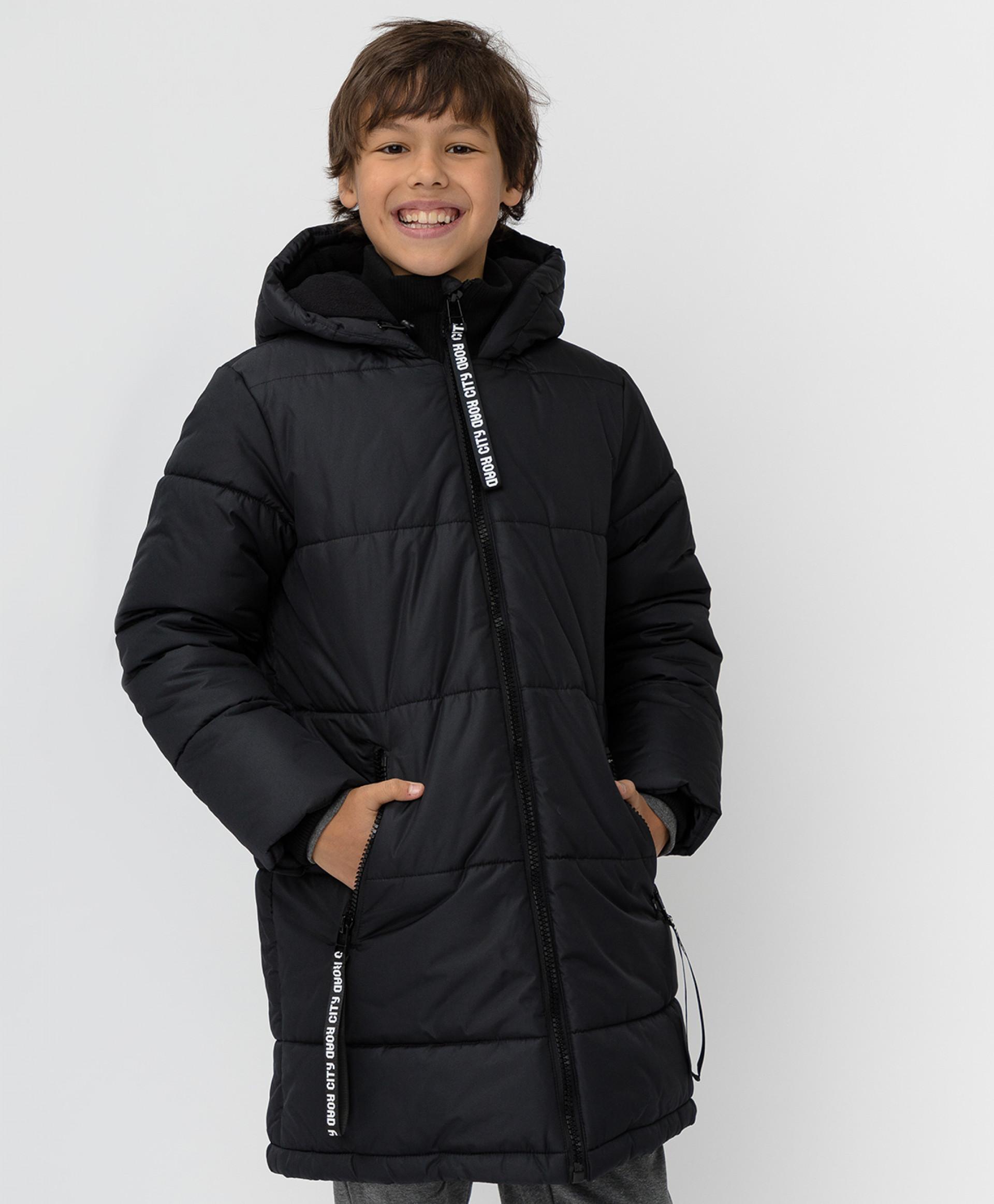 Купить Черное зимнее пальто Button Blue 220BBBJC45030800, размер 140,