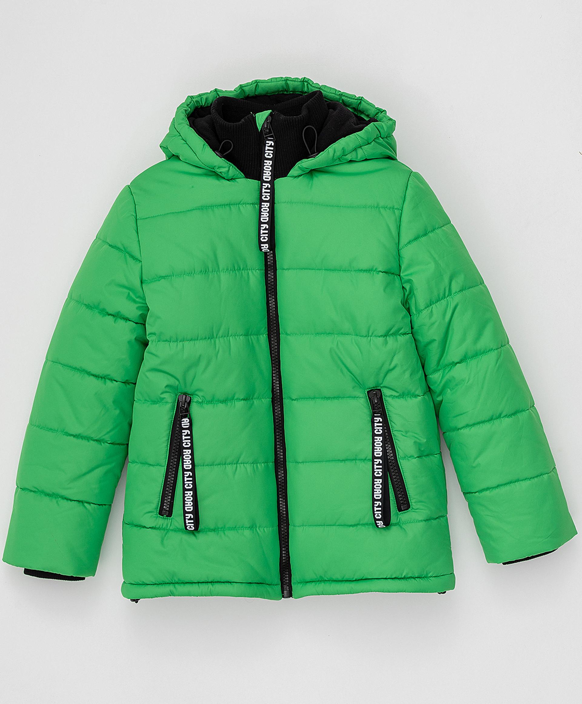 Купить Зеленая зимняя куртка Button Blue220BBBJC41024800, размер 146,