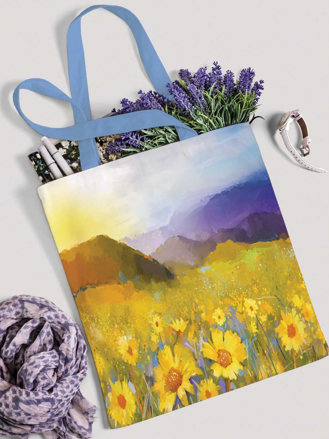 Сумка женская JoyArty Цветочная долина