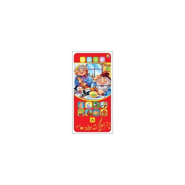 Купить Музыкальная игрушка РЫЖИЙ КОТ Музыкальный телефон Курочка Ряба ИМ-9008, Рыжий кот,