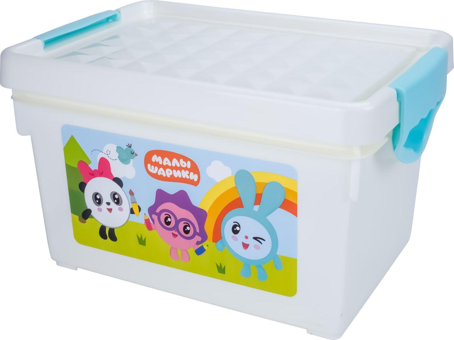 Купить Детский ящик для хранения мелочей Малышарики Little Angel 5, 1 л LA1152,