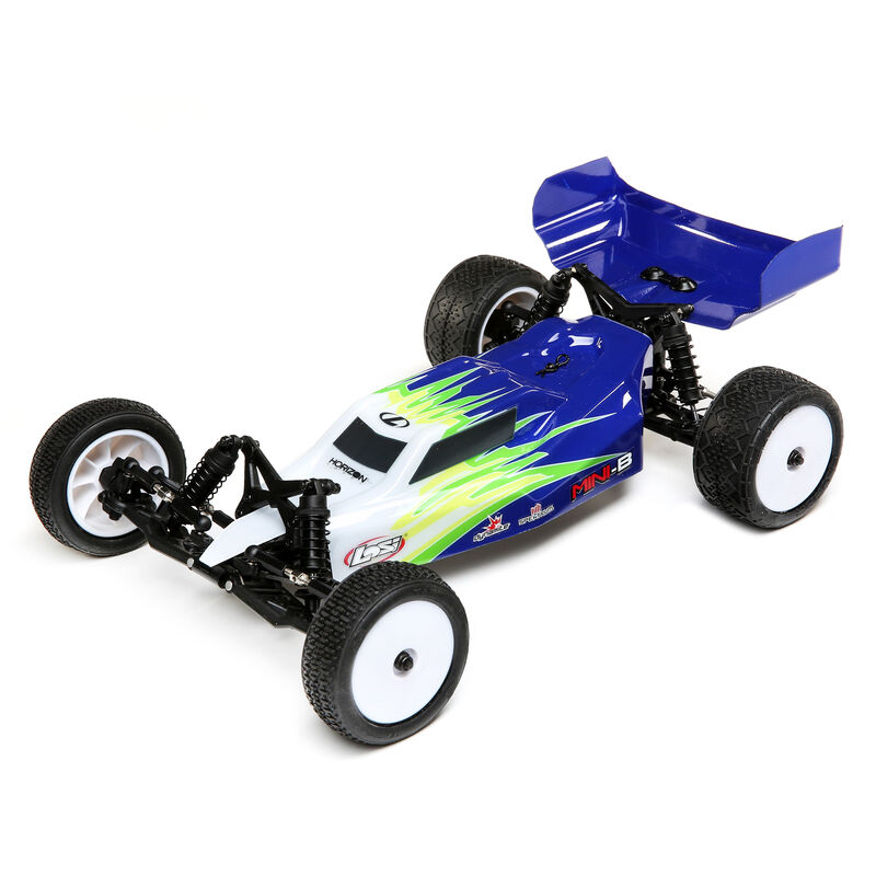 Купить Радиоуправляемая машинка багги Losi 1:16 Mini-B Brushed RTR 2WD (синий/белый),