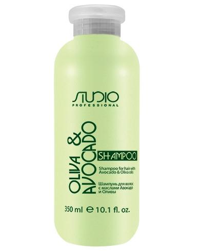 Купить Шампунь Kapous Olive and Avocado Увлажняющий для Волос с Маслами Авокадо и Оливы, 350 мл