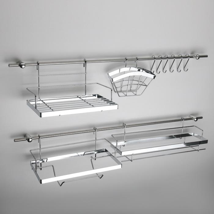 Рейлинговая система для кухни: базовый набор,