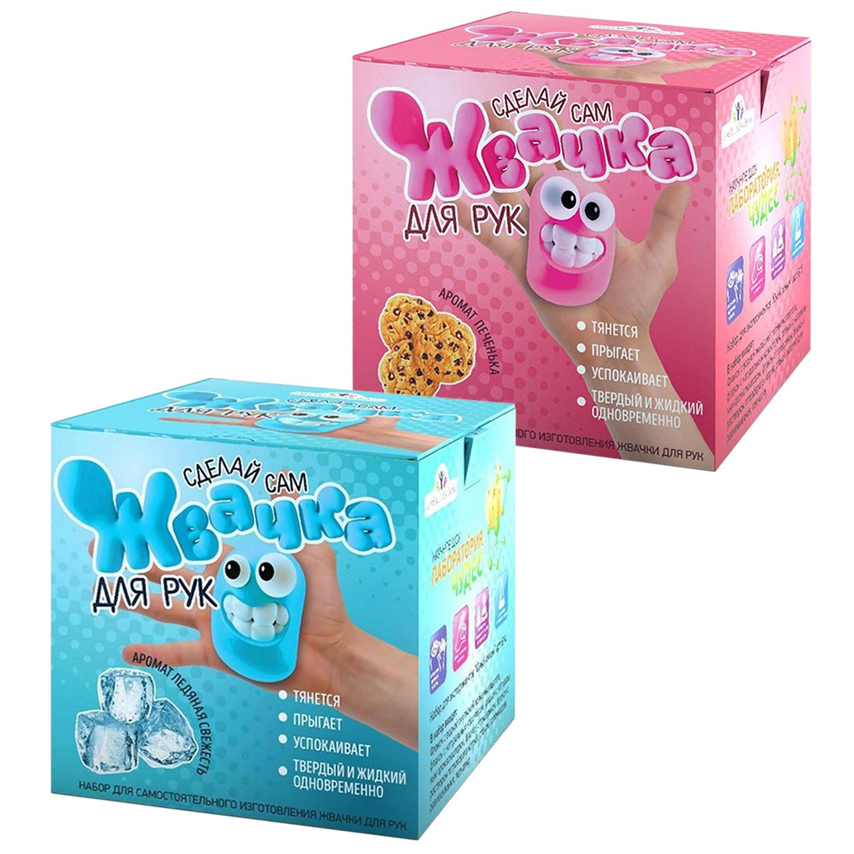 Купить Набор Висма Юный химик Жвачка для рук Ледяная свежесть + Печенька,
