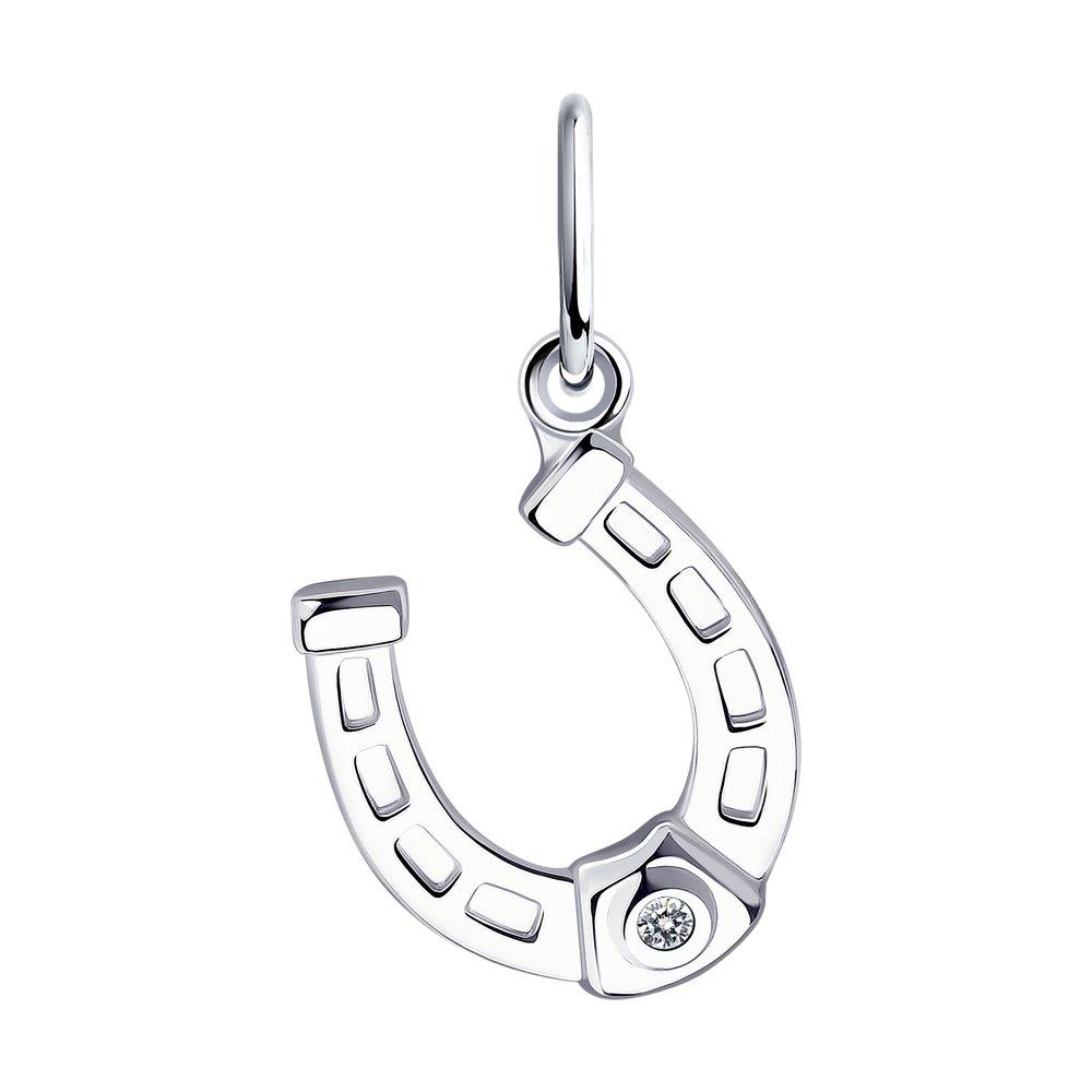 Подвеска женская Diamant 94-130-01083-2 из серебра, фианит