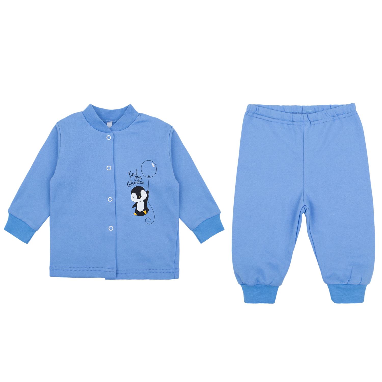 Пижама детская Leader Kids ЛКЗ2120605280фу17 голубой р.80