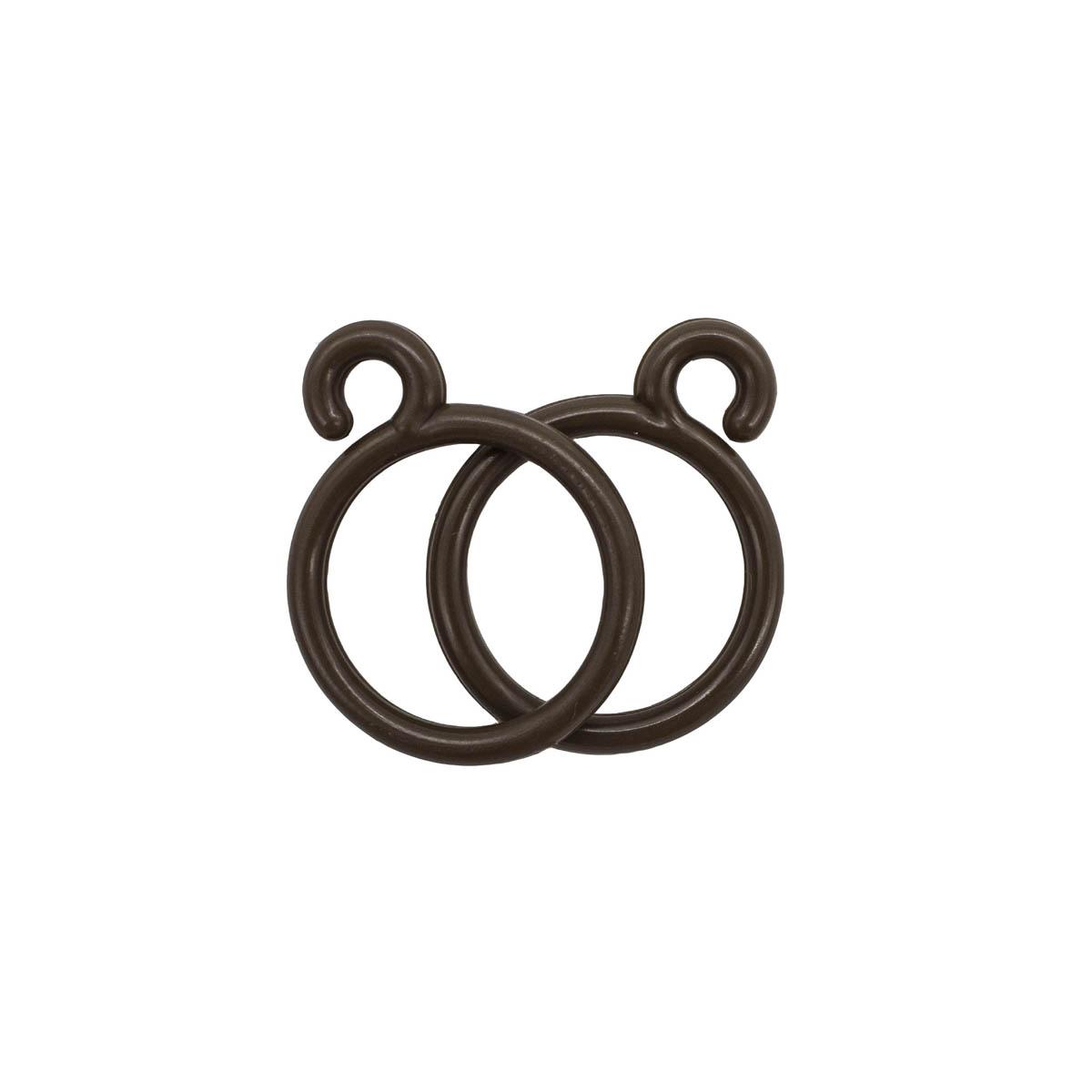 Крючок шторный LFB, цв. коричневый (100 шт/уп)