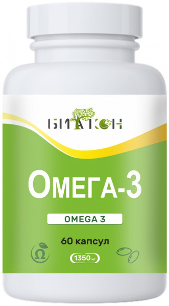 Купить Омега-3, Омега 3 Биакон 1350 мг капсулы 60 шт.