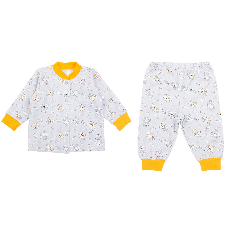 Пижама детская Leader Kids ЛКЗ2120605280фу08 серый р.80