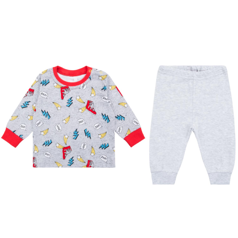 Пижама детская Leader Kids ЛКЗ2120610474ри02 серый р.74