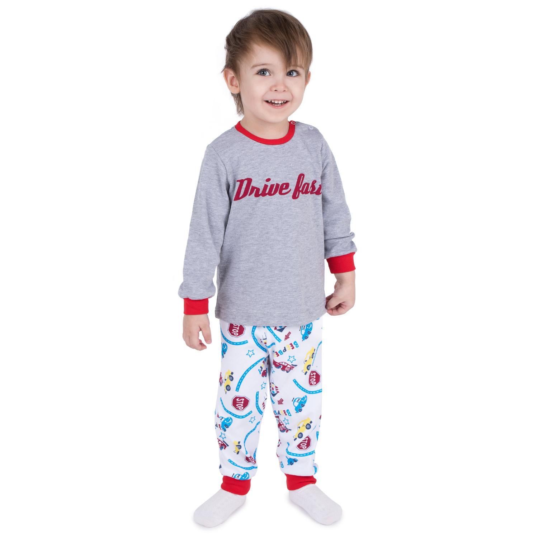 Пижама детская Leader Kids ЛКЛ2020610468ин03 серый р.68