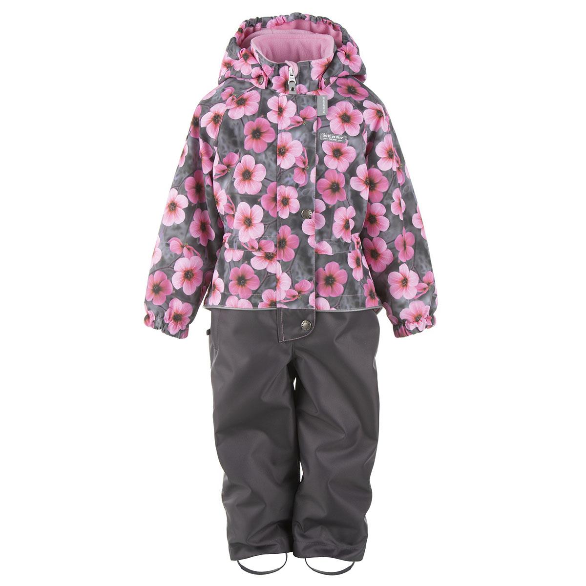 Купить Комбинезон для девочек HANNAH Kerry, Размер 98, Цвет 1911-серый с цветами K21019-1911_98,