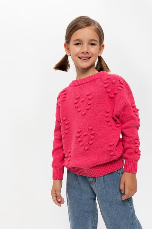 Джемпер детский Sela цв. розовый р.110