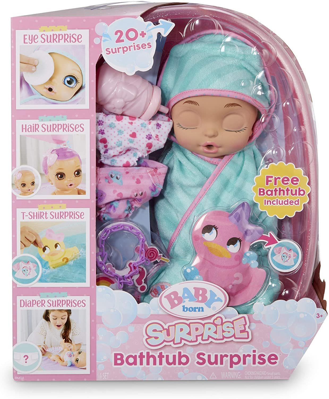 Пупс Baby Born Surprise Сюрприз Розовая ванна