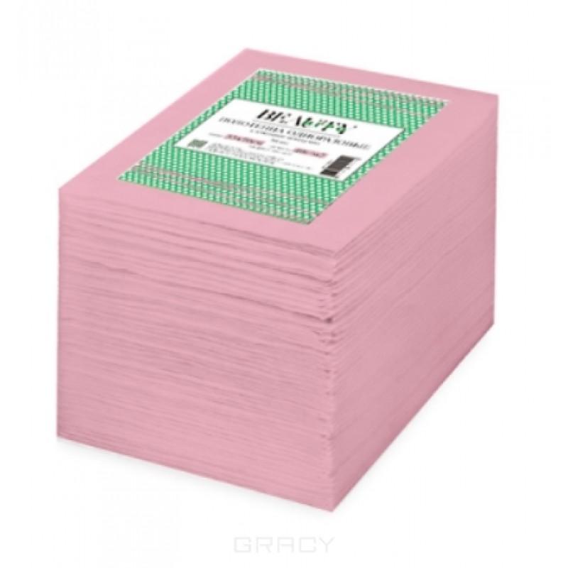 Полотенце вафельное IGRObeauty, поштучного сложения, розовое,