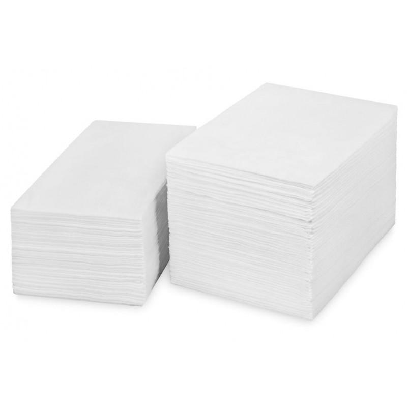 Полотенце вафельное IGRObeauty, поштучного сложения, белое,