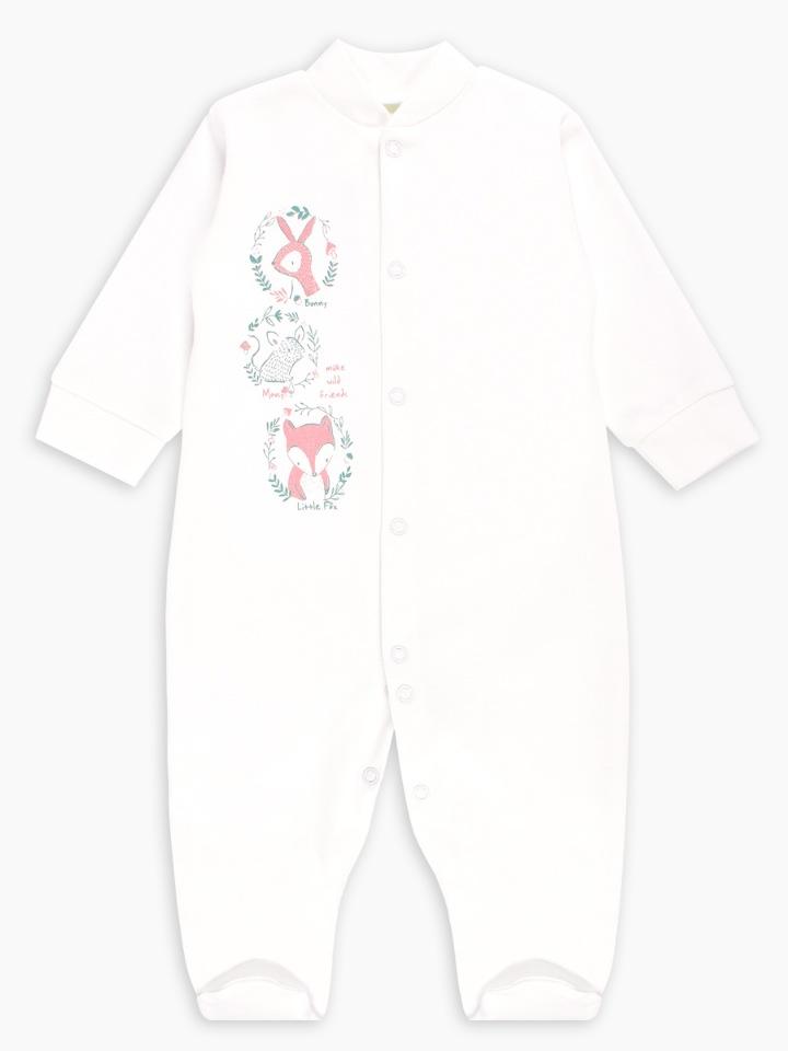 Купить Комбинезон Веселый малыш Wooly Wool 51322/w/молочный р.68,