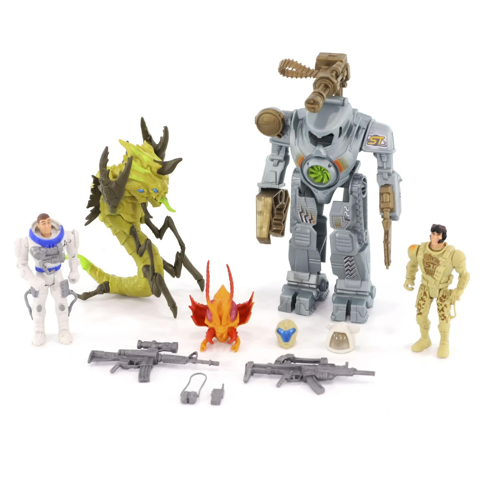 Игровой набор КОСМОС НАШ Боевой экзокостюм Геркулес Монстры Галактики, 16 см 38513-1