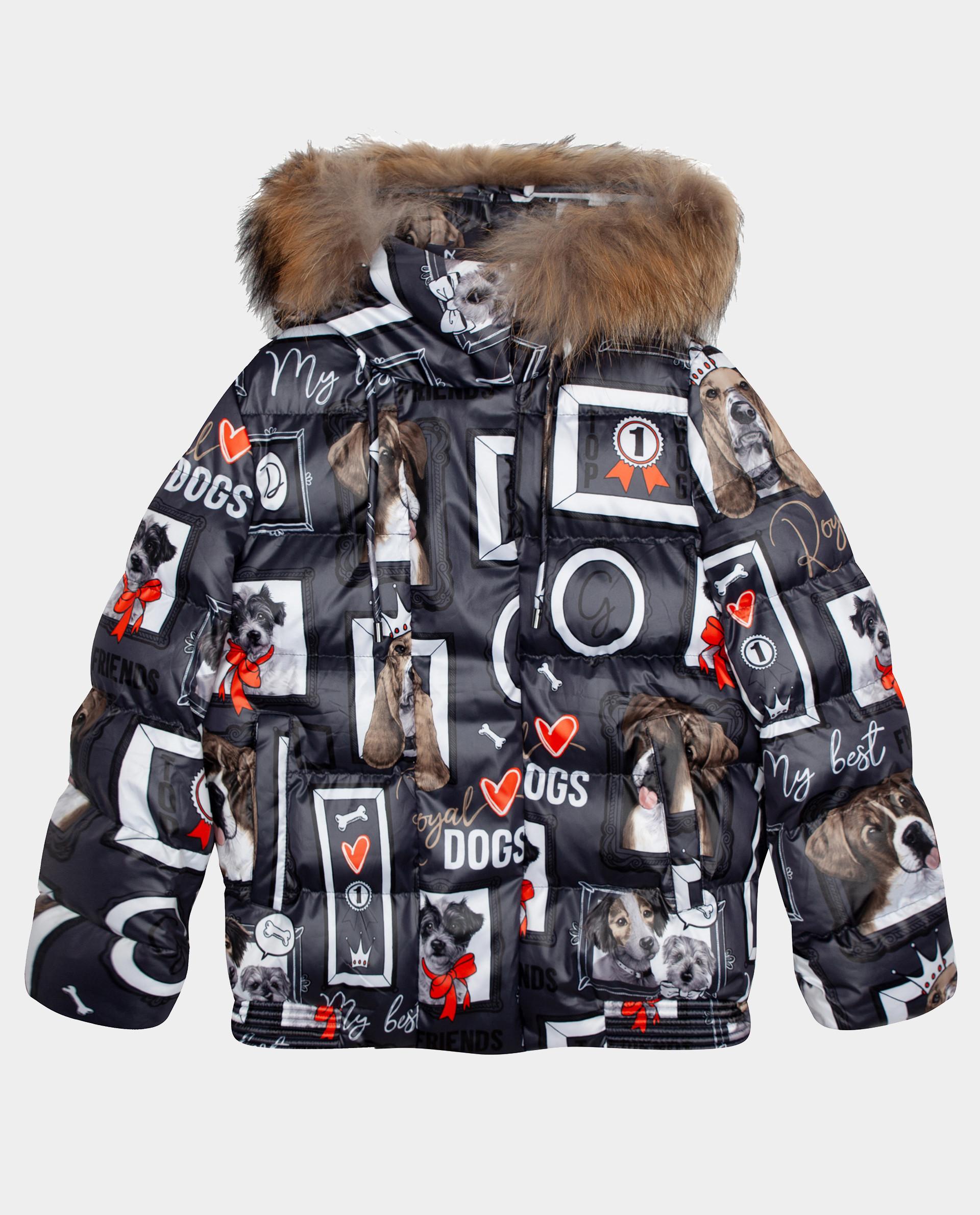 Купить Куртка зимняя с принтом Gulliver 22008GJC4108, размер 146,