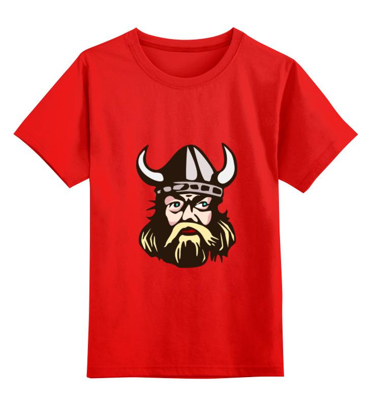 Детская футболка Printio Веселый викинг цв.красный р.140 0000000777900 по цене 990