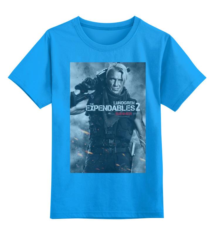 Купить 0000000768886, Детская футболка Printio Expendables ii lundgren цв.голубой р.140,