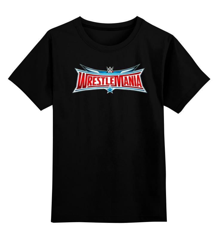 Детская футболка Printio Wrestlemania цв.черный р.152 0000000757771 по цене 990