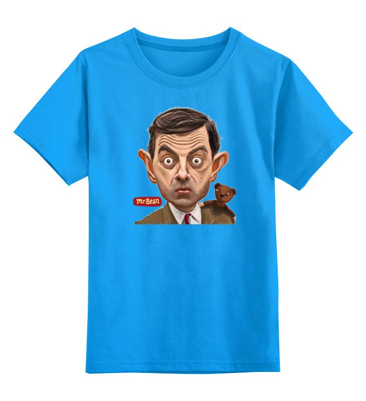 Детская футболка Printio Mr.bean цв.голубой р.152 0000000754997 по цене 990