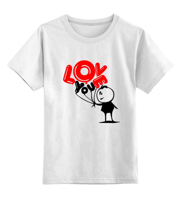 Детская футболка Printio I love you цв.белый р.152 0000000753591 по цене 790