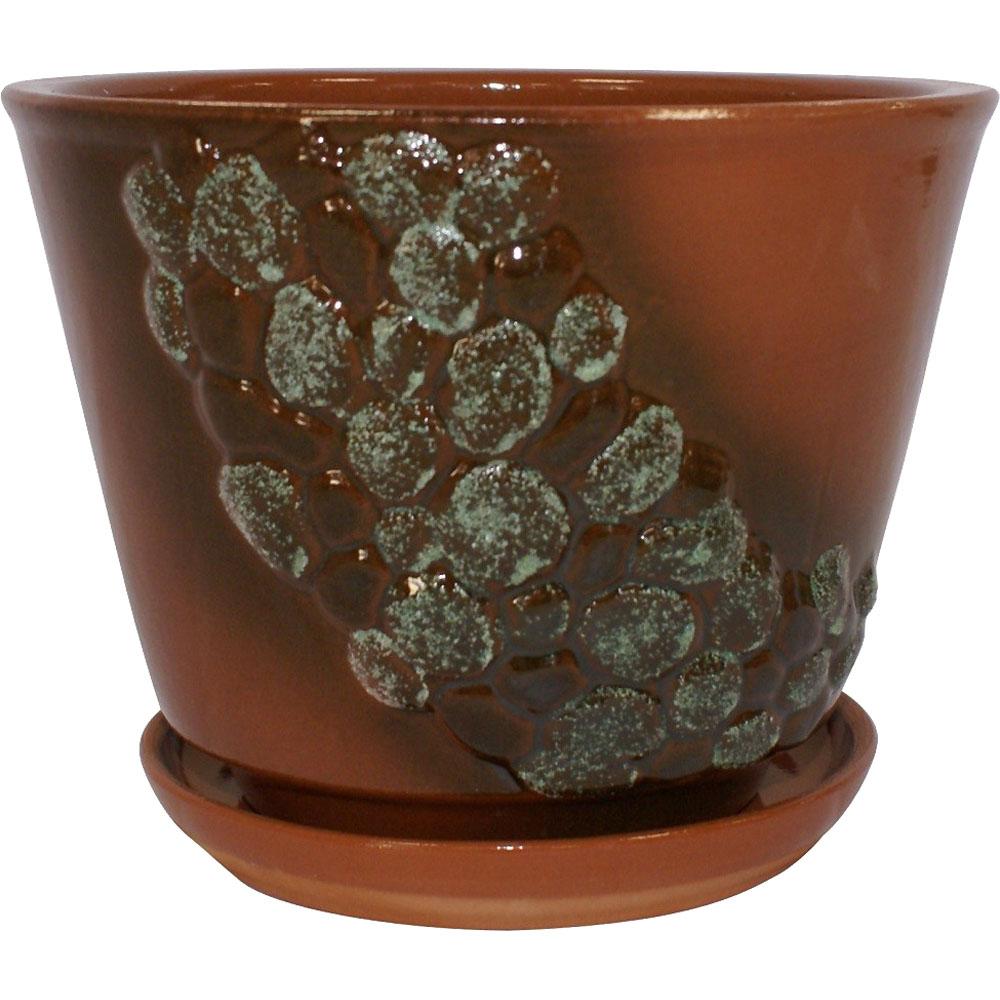 Горшок цветочный с поддоном КАМУШКИ 2,5 Л