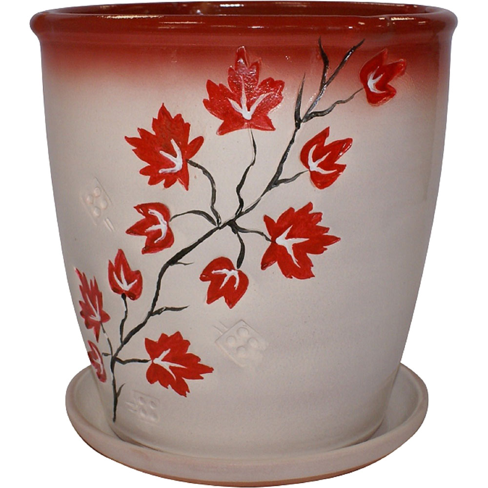 Горшок цветочный с поддоном БАГРЕЦ 6,5 Л
