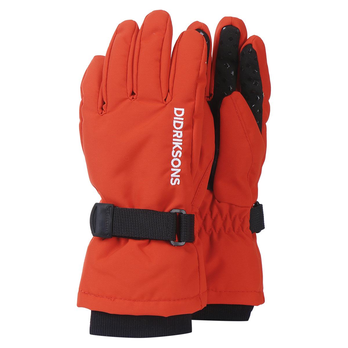 Перчатки BIGGLES FIVE Didriksons, Размер 8-10, Цвет 424-маково-оранжевый 503421-424_8-10