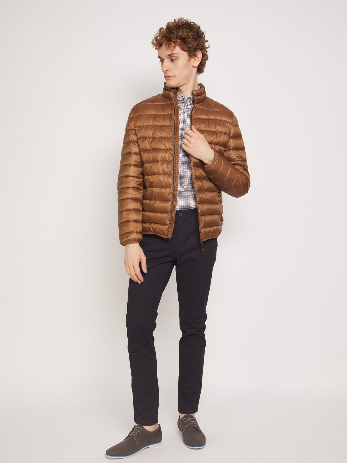 Куртка мужская Zolla z0113351022142500 коричневая S, z0113351022142500