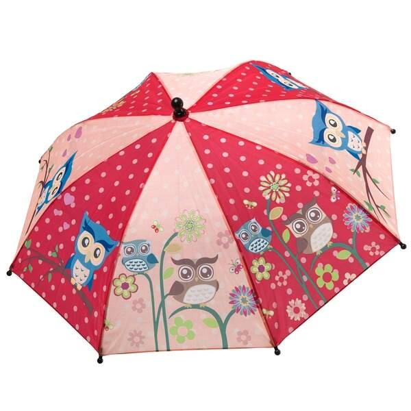 Детский зонт Bondibon Совята, светло ярко розовый,