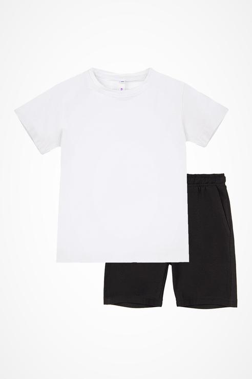 Купить 32012301_белый, Комплект спортивный футболка, шорты, мешок PlayToday 32012301 р.98, Play Today,