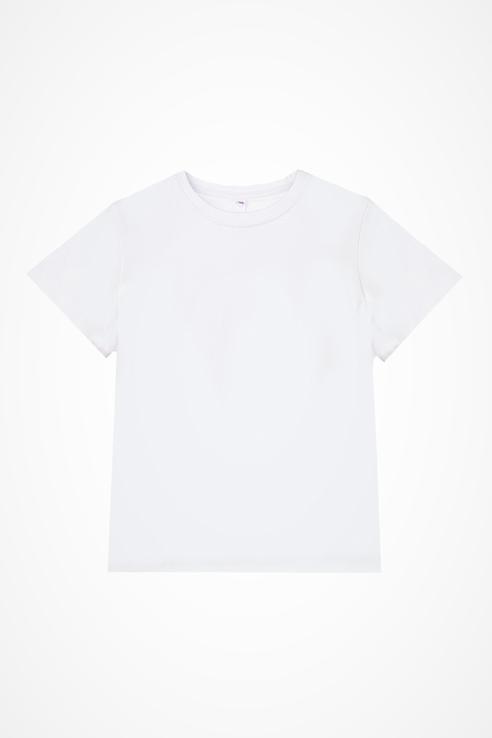 Купить 22021101_белый, Базовая футболка для девочек PlayToday 22021101 р.140, Play Today,