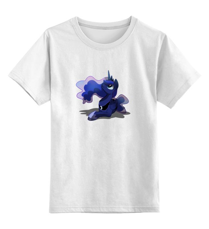 Купить 0000000753292, Детская футболка Printio Luna the princess цв.белый р.164,
